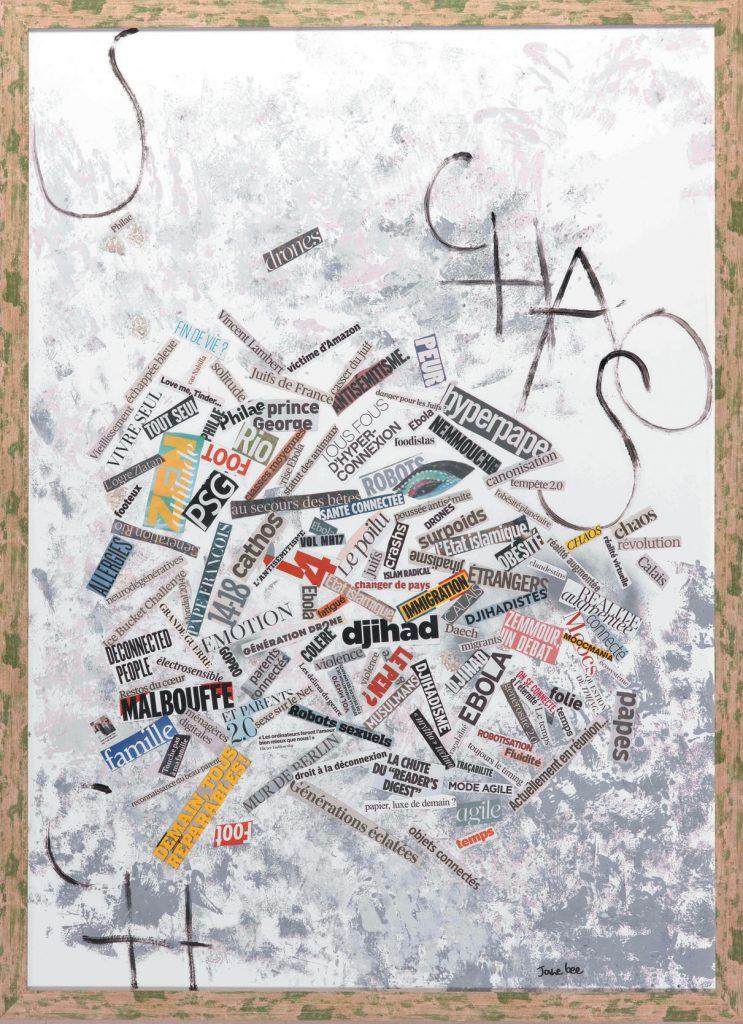 Nom du tableau : Société 2014, « Chaos », Jane Bee