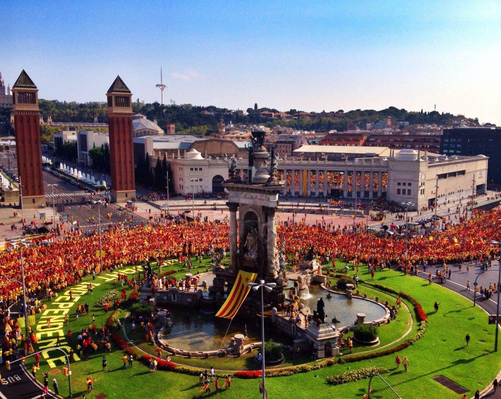 Manifestation pour l'indépendance à Barcelone pour la Diada