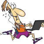 « Que j'explique mon Powerpoint ? D'accord, laissez-moi juste terminer mon sprint… »